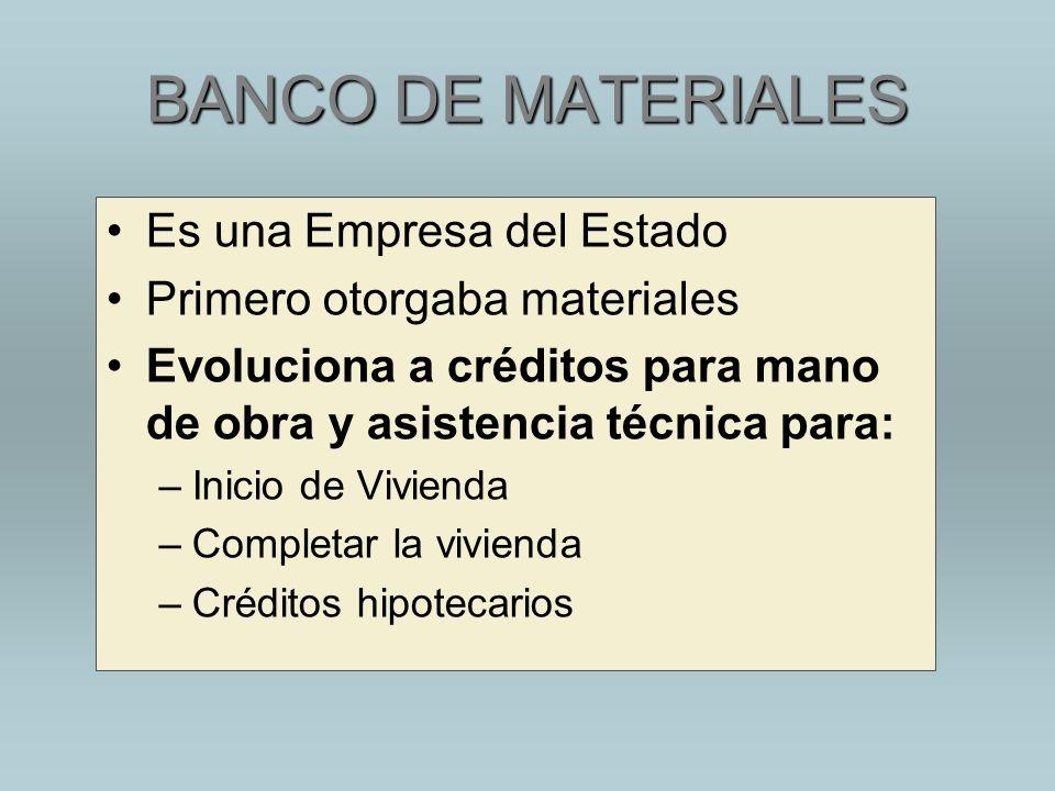 BANCO DE MATERIALES Es una Empresa del Estado