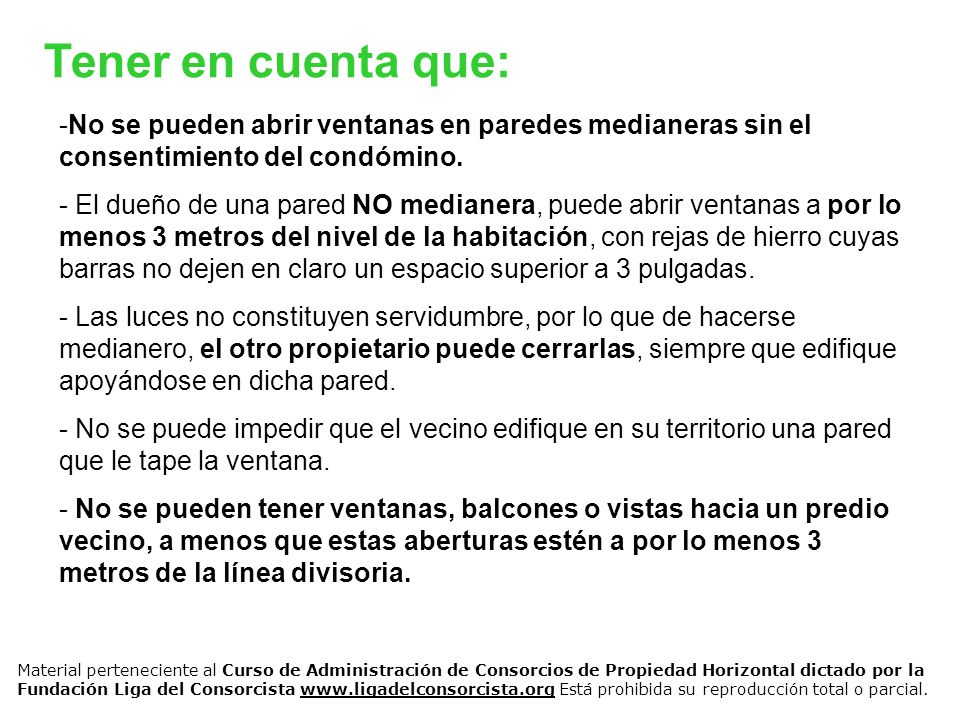 Temas de medianer a es el condominio de indivisi n forzosa for Ventanas hacia el vecino argentina
