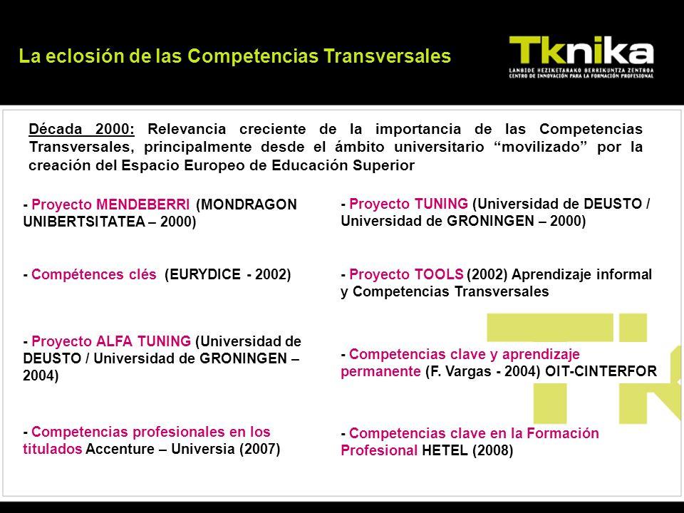La eclosión de las Competencias Transversales
