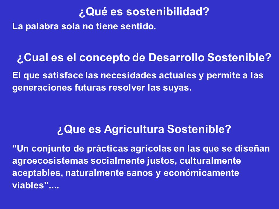 ¿Qué es sostenibilidad