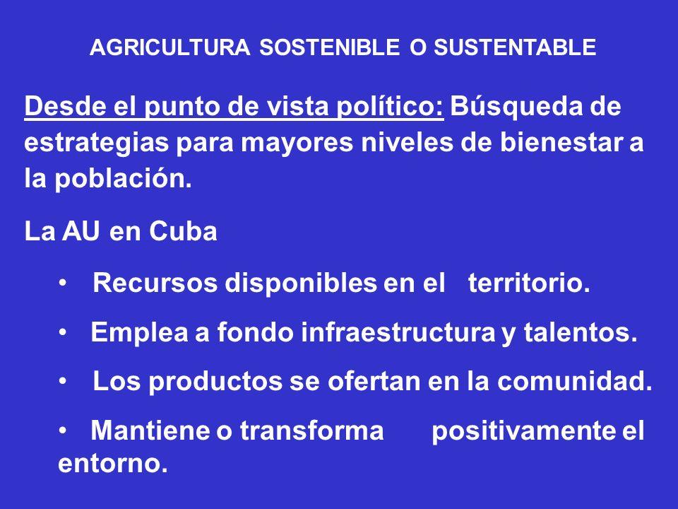 AGRICULTURA SOSTENIBLE O SUSTENTABLE