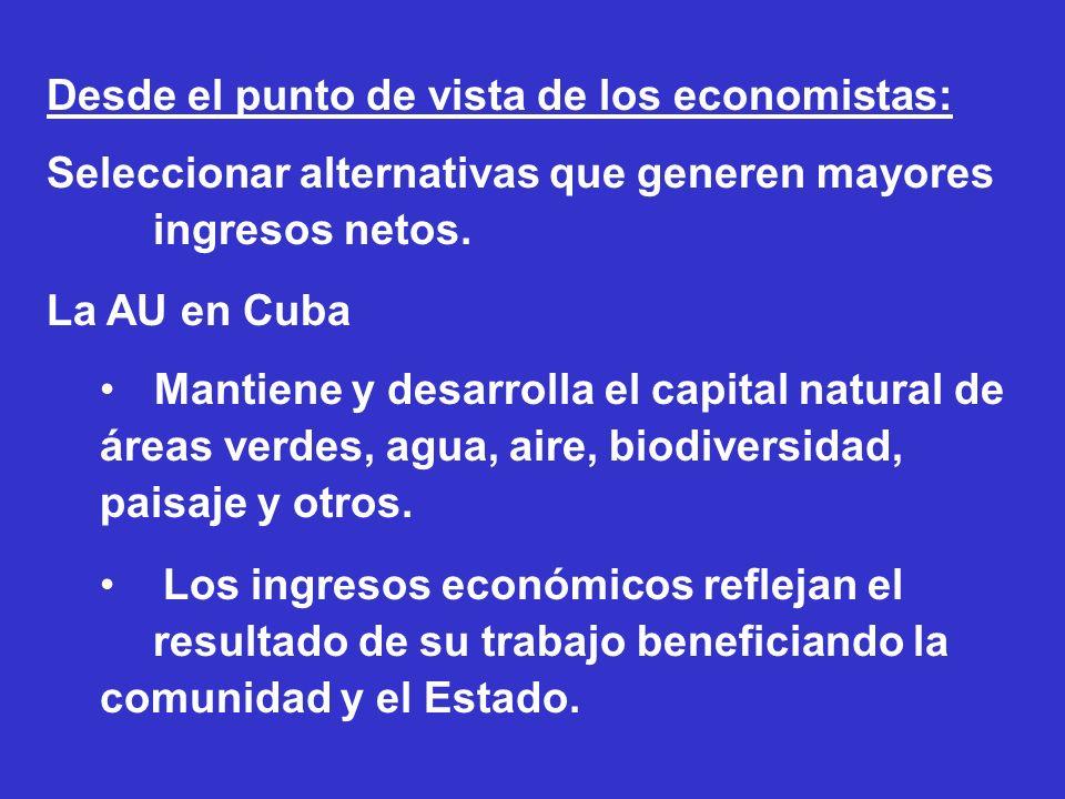 Desde el punto de vista de los economistas: