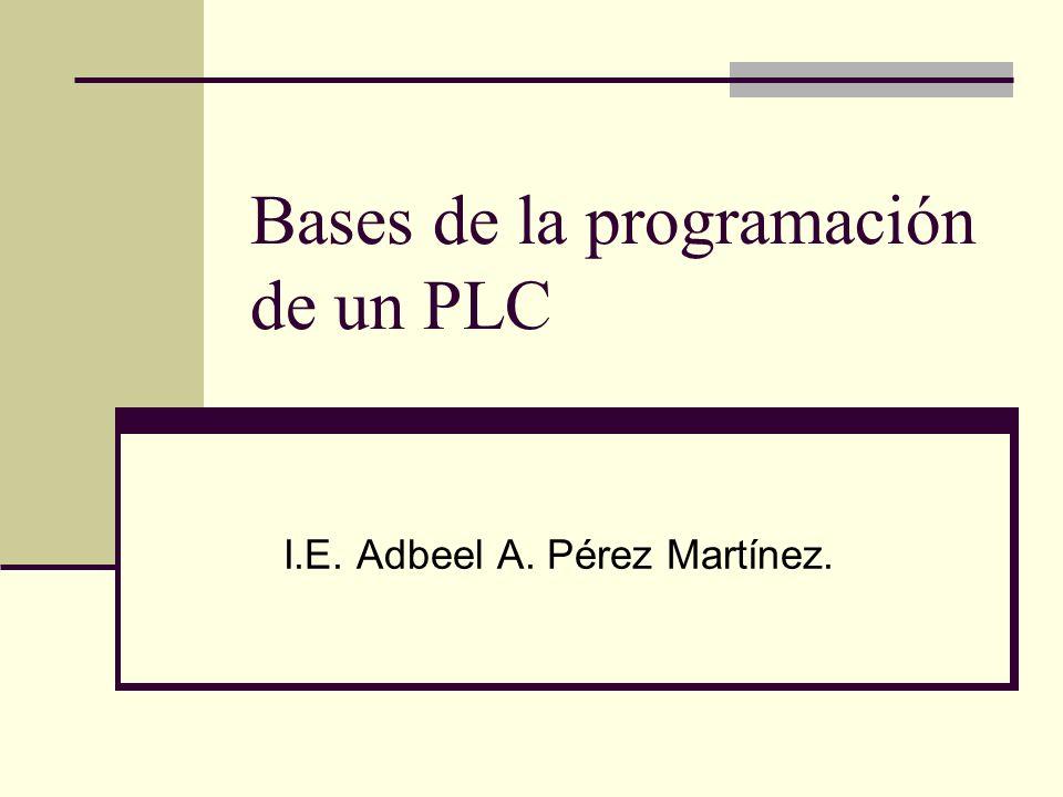 Bases de la programación de un PLC