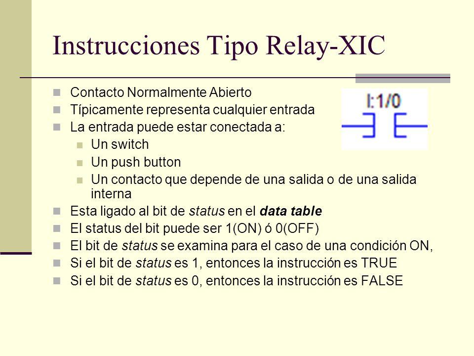 Instrucciones Tipo Relay-XIC