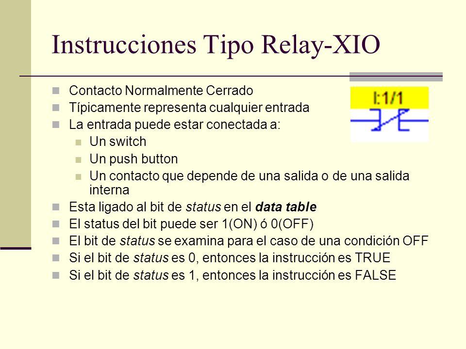 Instrucciones Tipo Relay-XIO