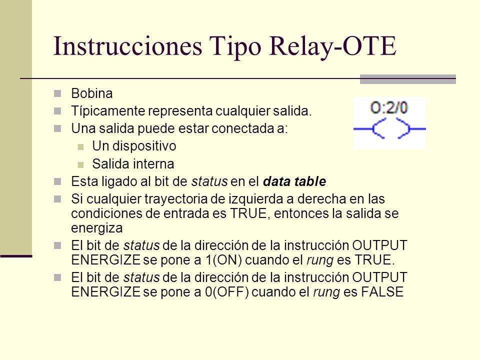 Instrucciones Tipo Relay-OTE