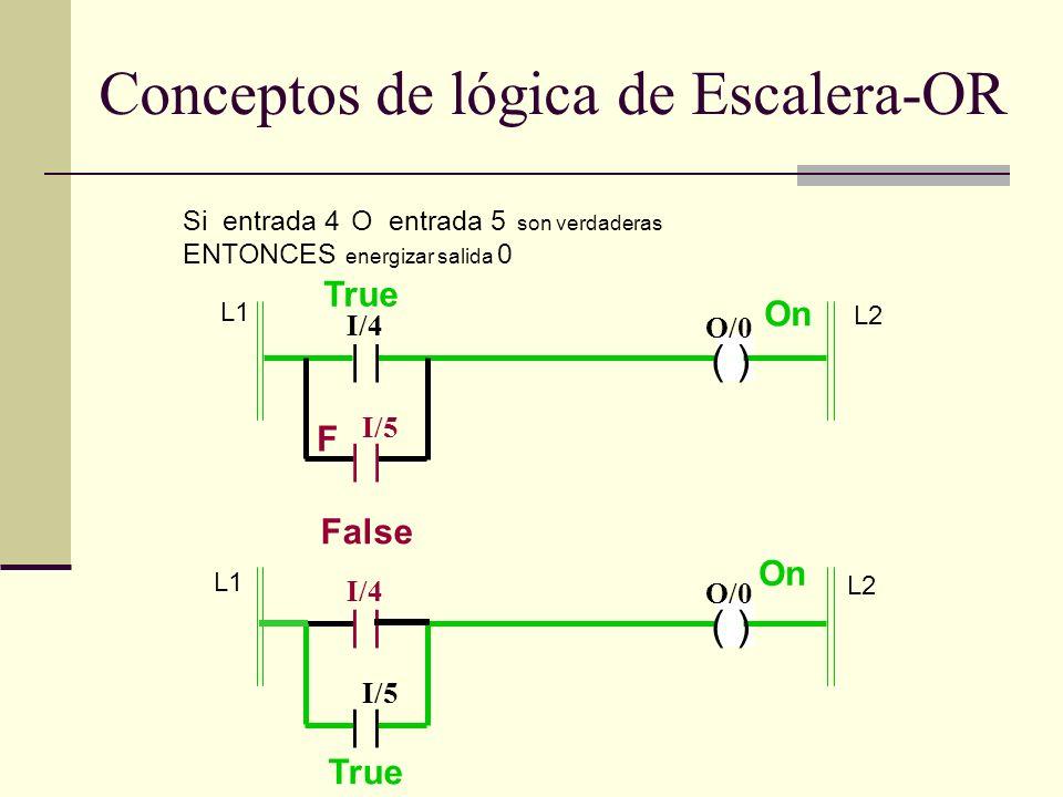 Conceptos de lógica de Escalera-OR