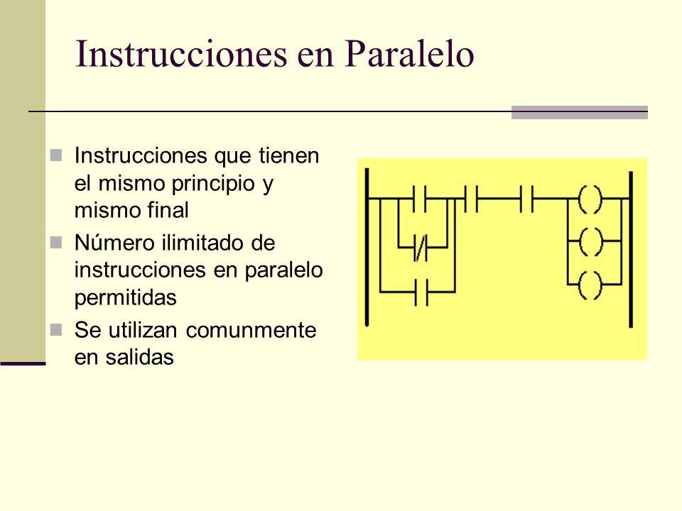 Instrucciones en Paralelo