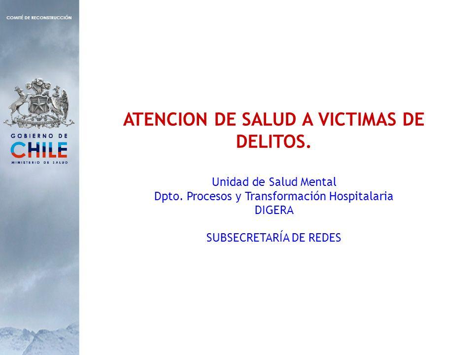 ATENCION DE SALUD A VICTIMAS DE DELITOS. Unidad de Salud Mental Dpto