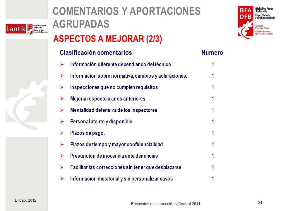 COMENTARIOS Y APORTACIONES AGRUPADAS
