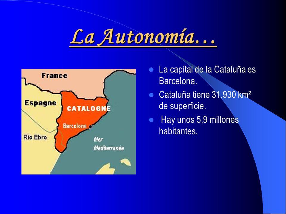 La Autonomía… La capital de la Cataluña es Barcelona.