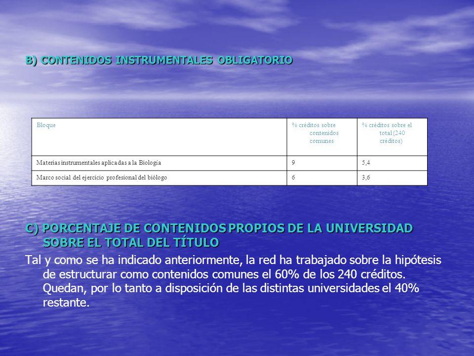 B) CONTENIDOS INSTRUMENTALES OBLIGATORIO