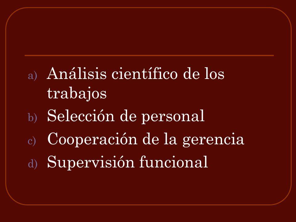 Análisis científico de los trabajos