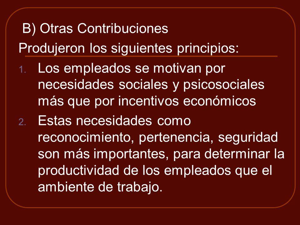 B) Otras Contribuciones