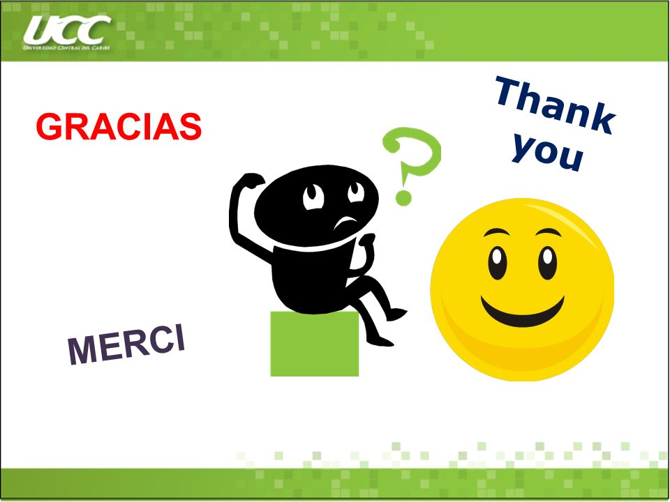 Thank you GRACIAS MERCI