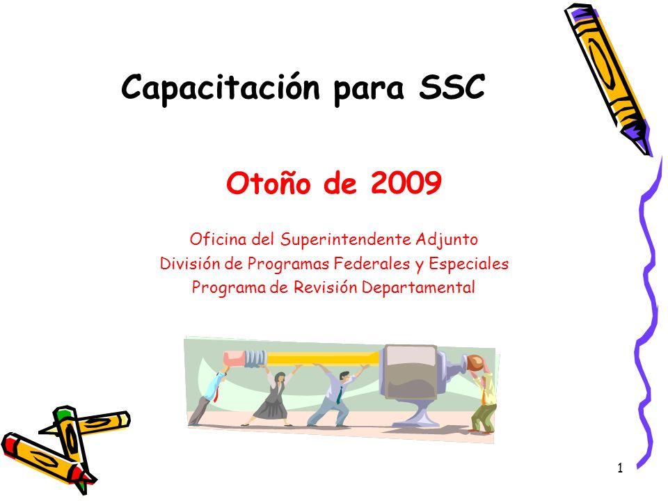 Capacitación para SSC Otoño de 2009