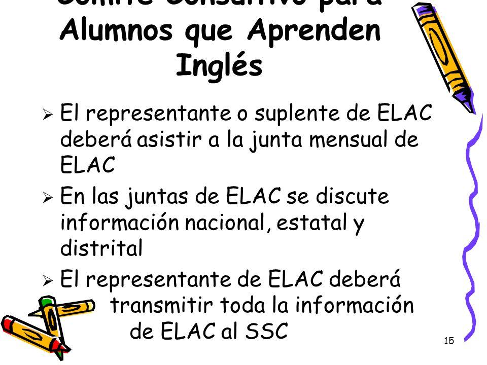 Comité Consultivo para Alumnos que Aprenden Inglés