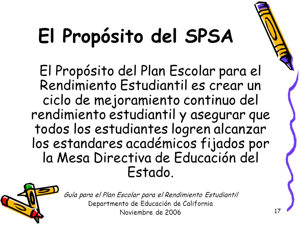 El Propósito del SPSA