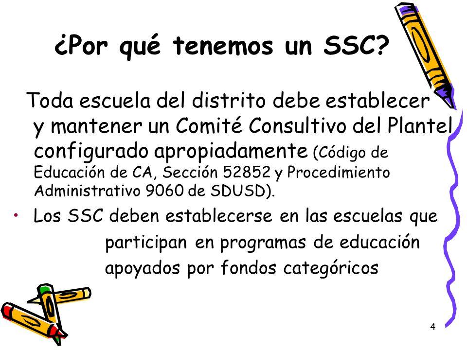 ¿Por qué tenemos un SSC