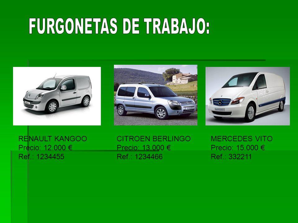 FURGONETAS DE TRABAJO: