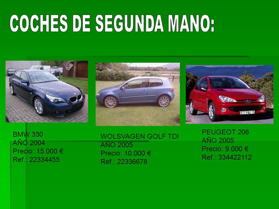 COCHES DE SEGUNDA MANO: