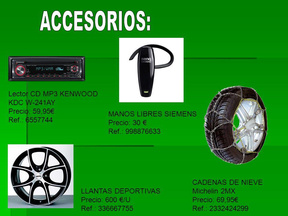 ACCESORIOS: Lector CD MP3 KENWOOD KDC W-241AY Precio: 59,95€