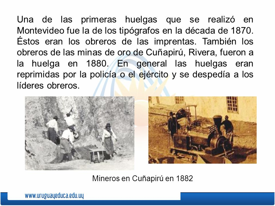Los sindicatos en las primeras d cadas del siglo xx ppt for Mueblerias por calle rivera montevideo