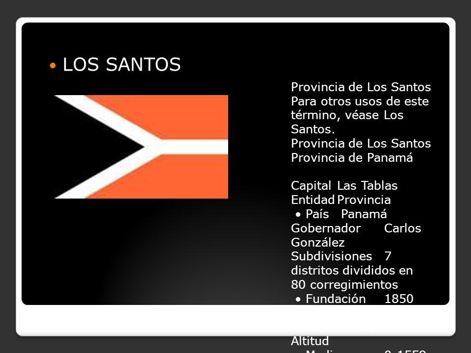 LOS SANTOS Provincia de Los Santos