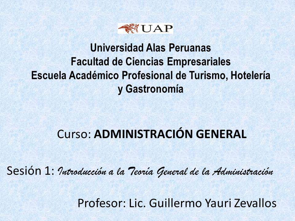 Profesor: Lic. Guillermo Yauri Zevallos