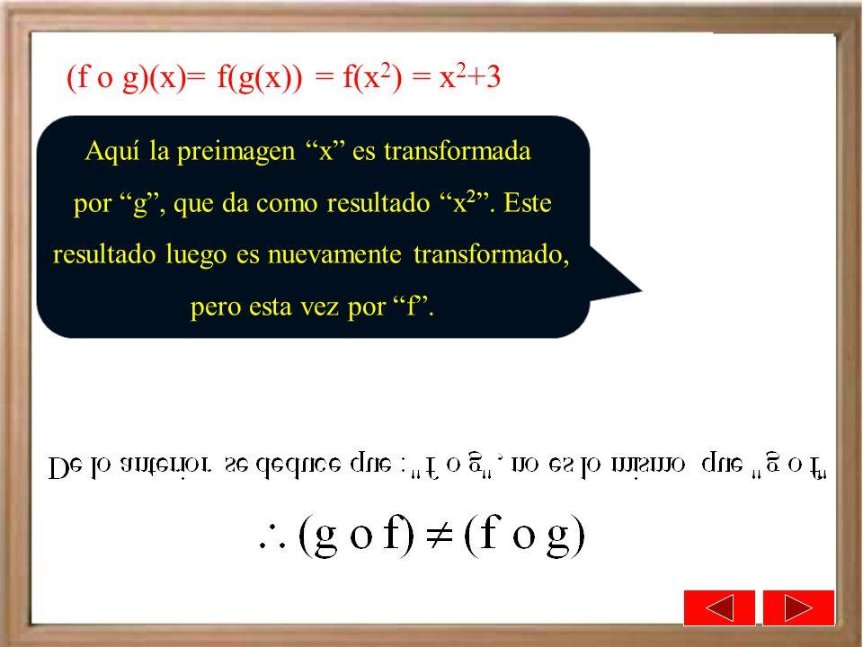 (f o g)(x)= f(g(x)) = f(x2) = x2+3