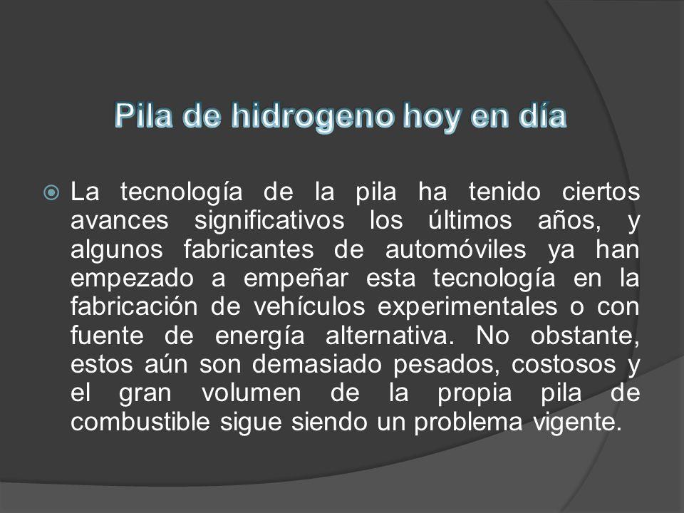 Pila de hidrogeno hoy en día