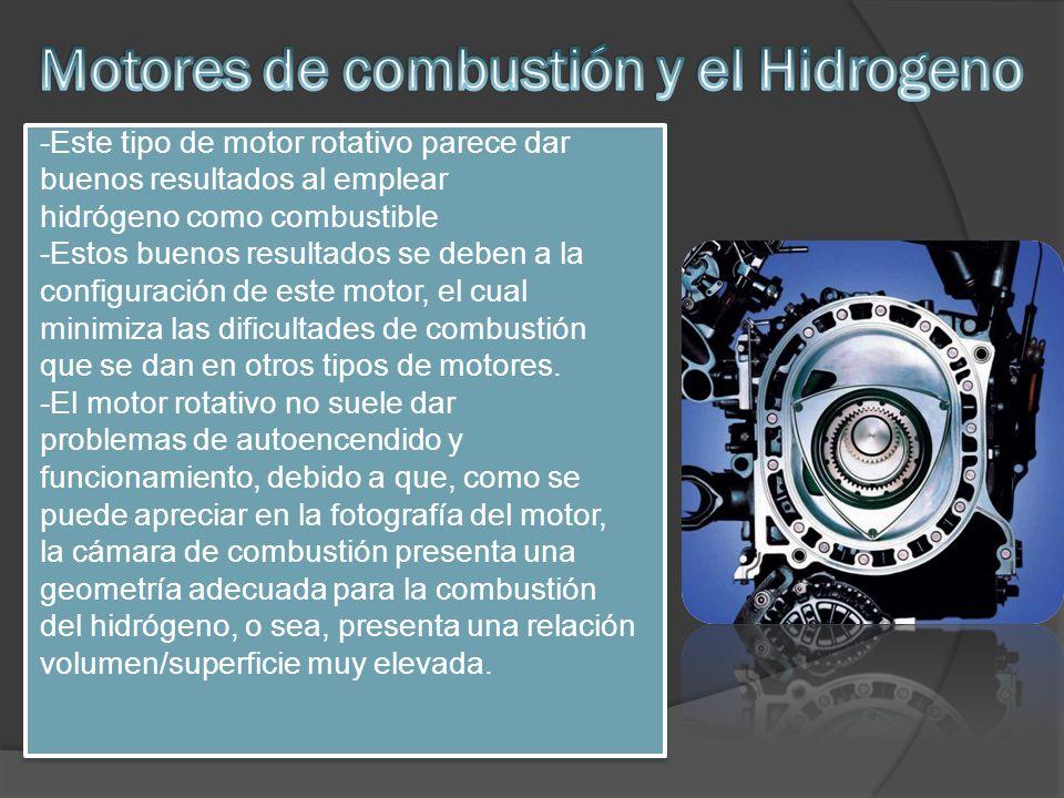 Motores de combustión y el Hidrogeno