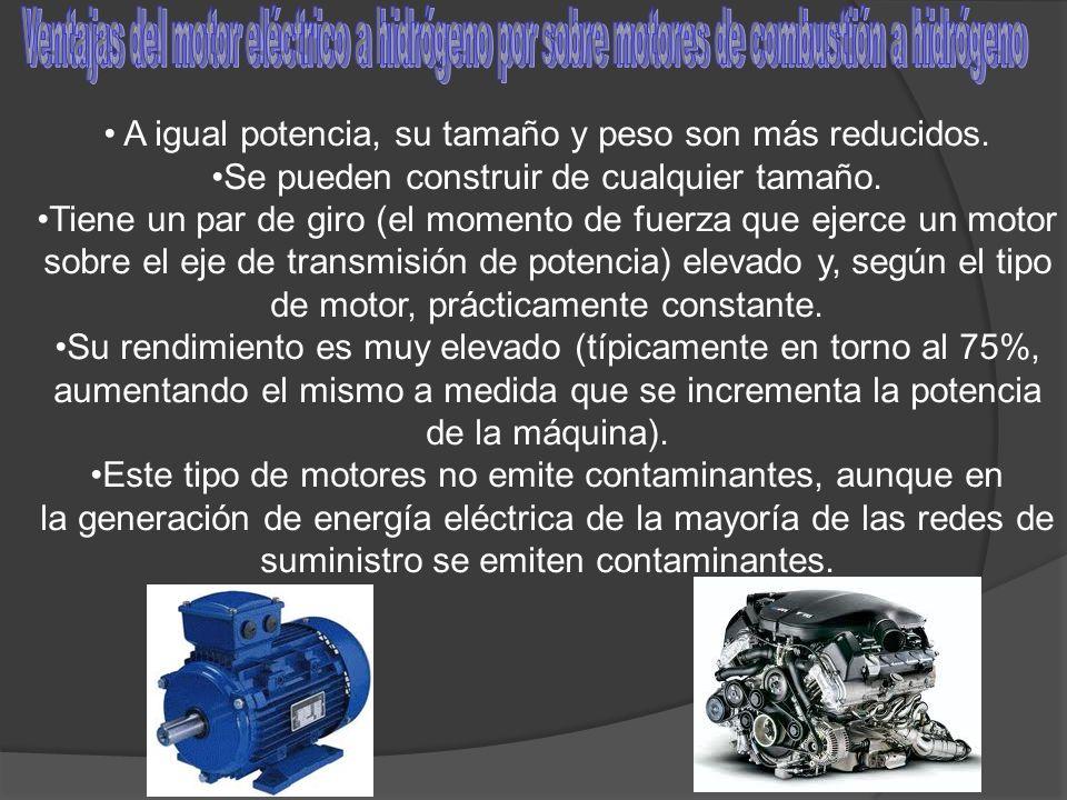 Ventajas del motor eléctrico a hidrógeno por sobre motores de combustión a hidrógeno