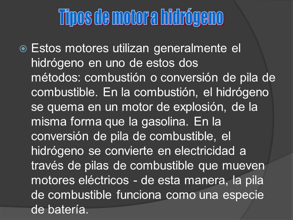 Tipos de motor a hidrógeno