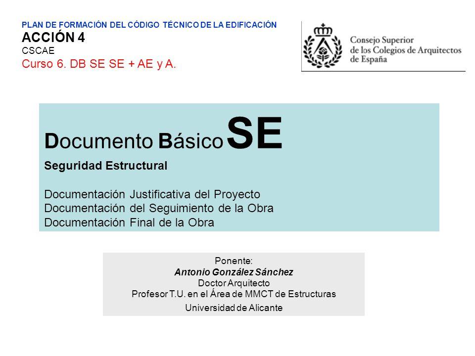 Documento Básico SE ACCIÓN 4 Curso 6. DB SE SE + AE y A.