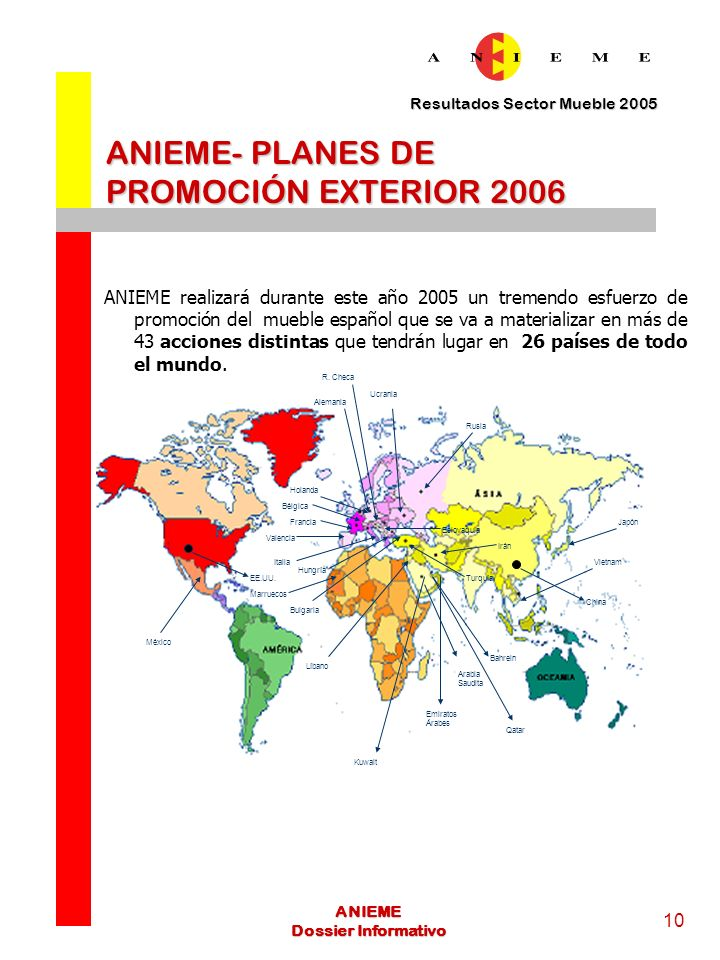 ANIEME- PLANES DE PROMOCIÓN EXTERIOR 2006