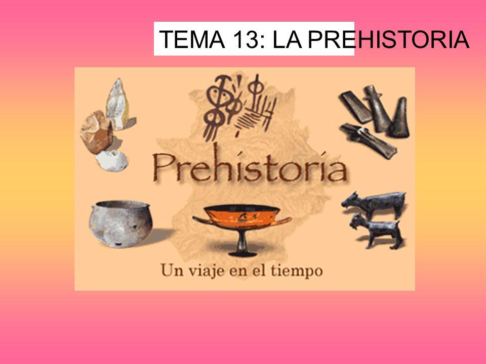TEMA 13: LA PREHISTORIA
