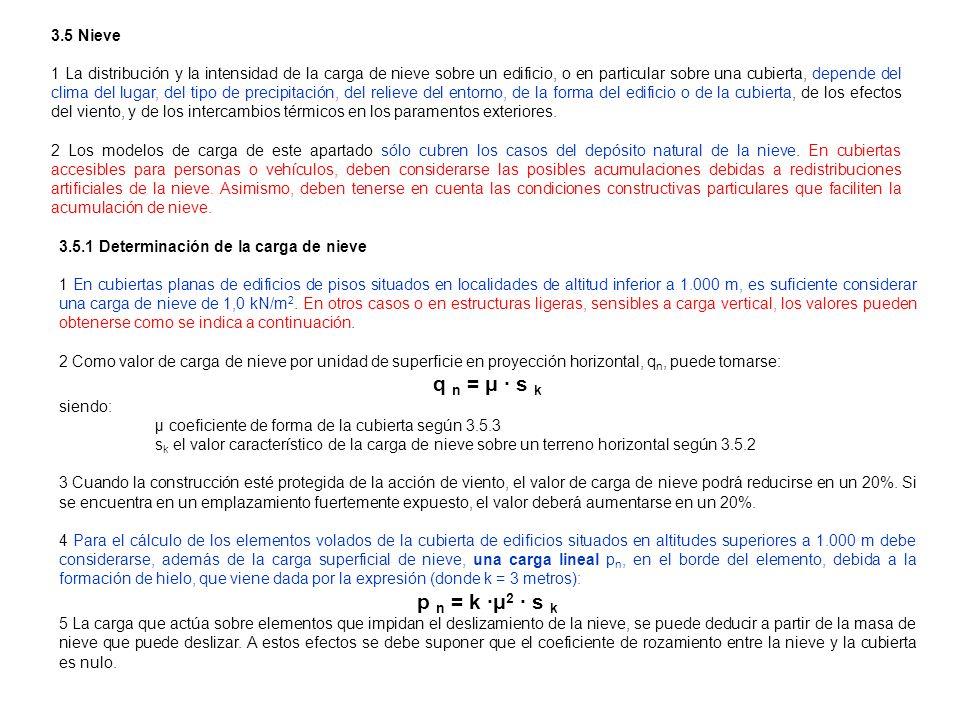 q n = μ · s k p n = k ·μ2 · s k 3.5 Nieve