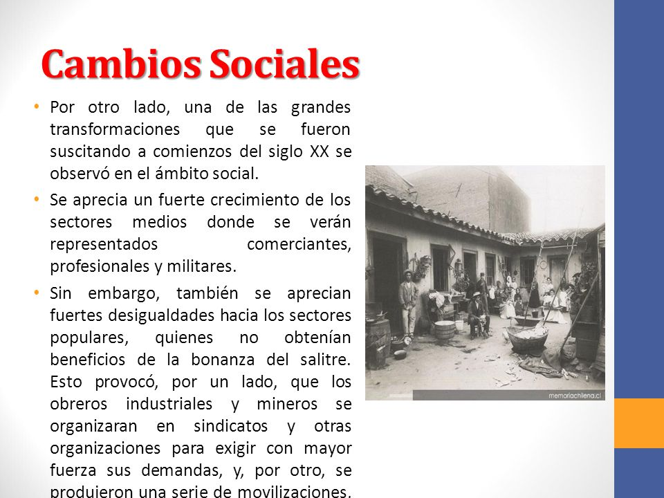 La sociedad finisecular y los inicios del siglo xx ppt for Espejo que se ve por el otro lado