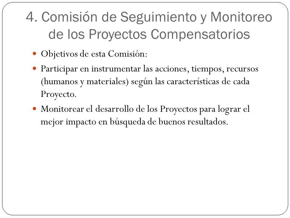 4. Comisión de Seguimiento y Monitoreo de los Proyectos Compensatorios