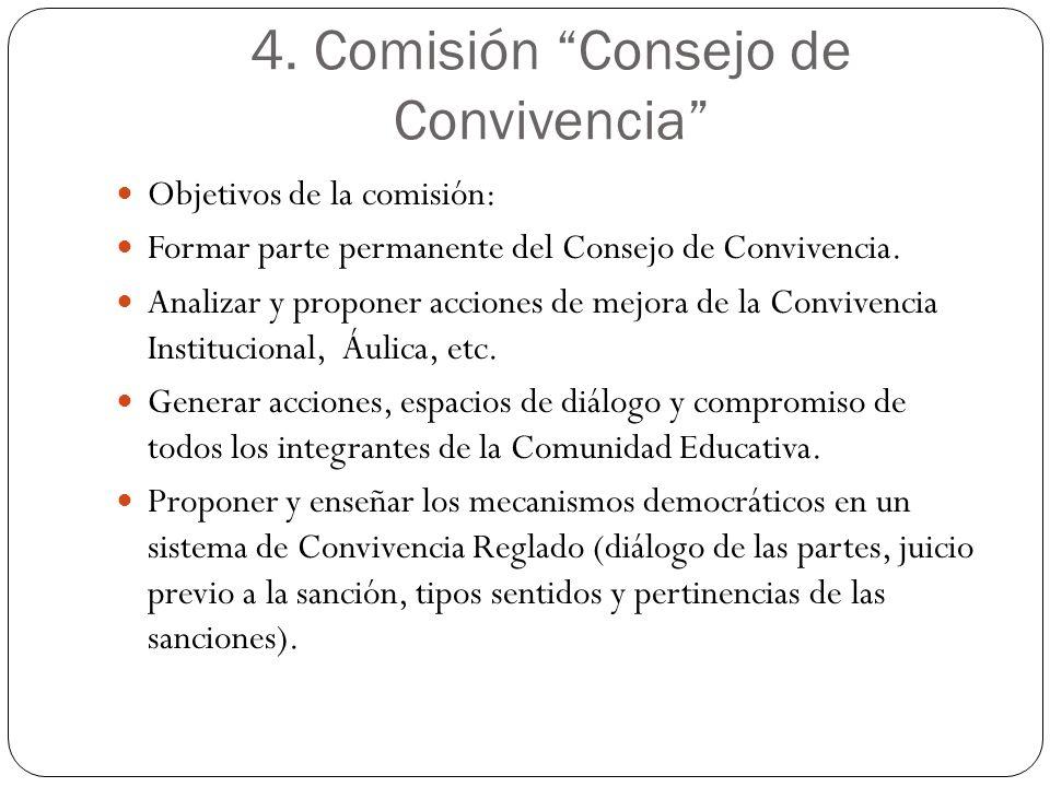 4. Comisión Consejo de Convivencia
