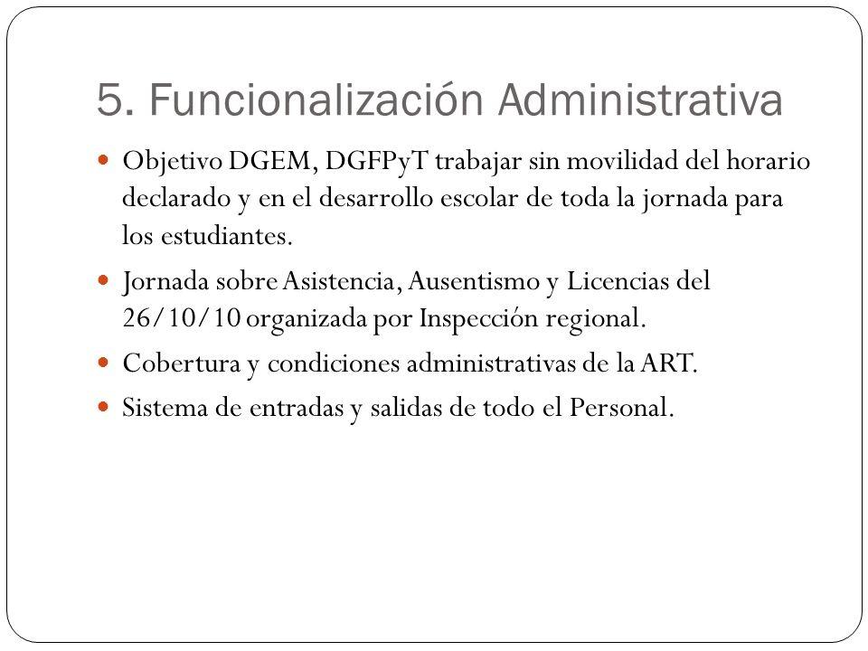5. Funcionalización Administrativa