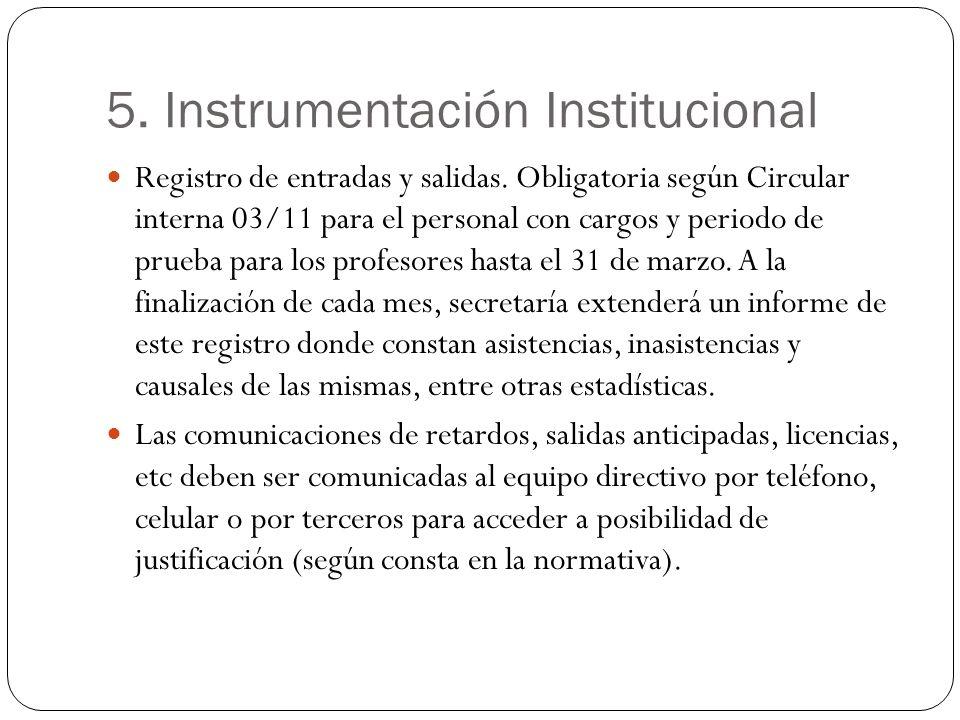 5. Instrumentación Institucional