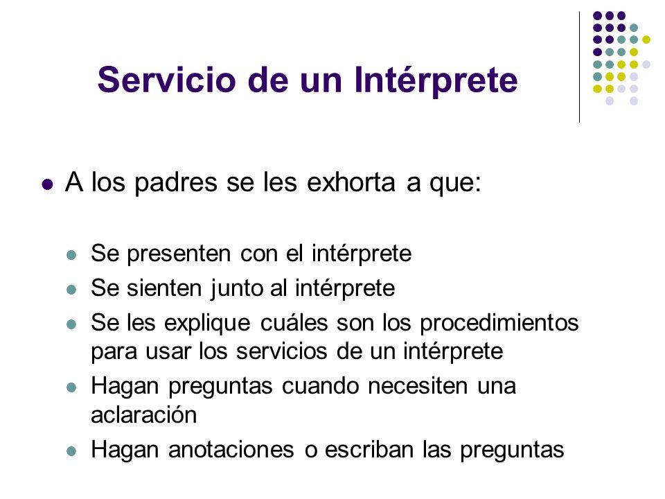 Servicio de un Intérprete