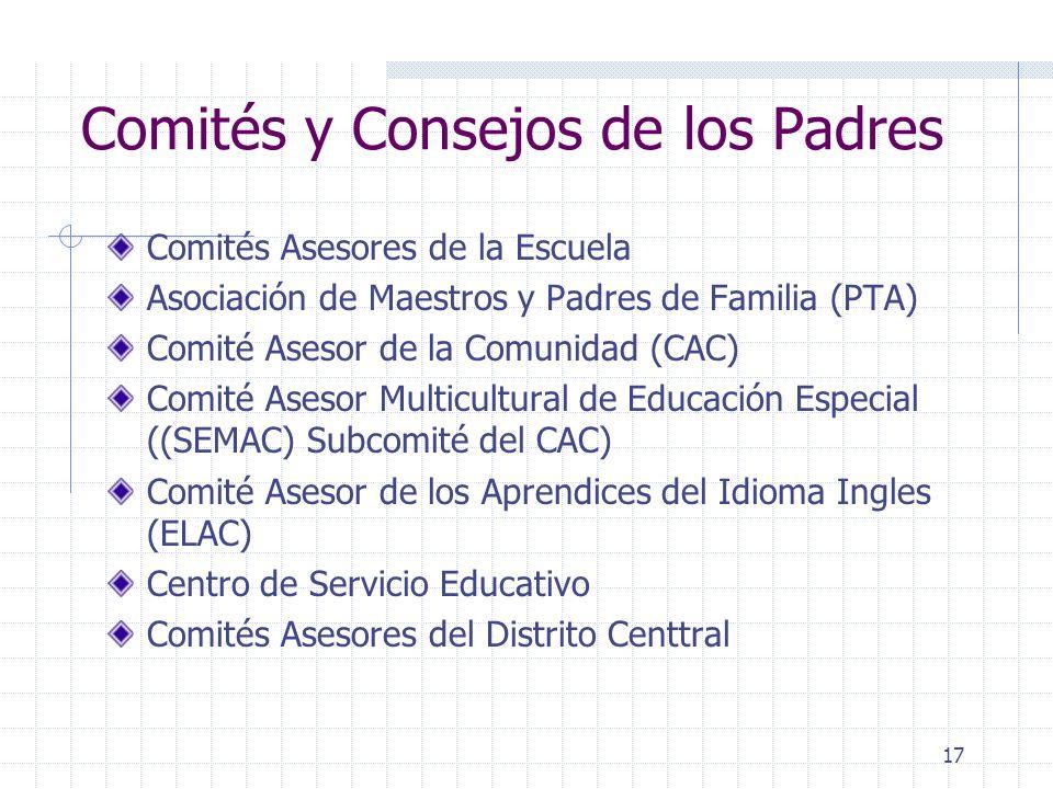 Comités y Consejos de los Padres