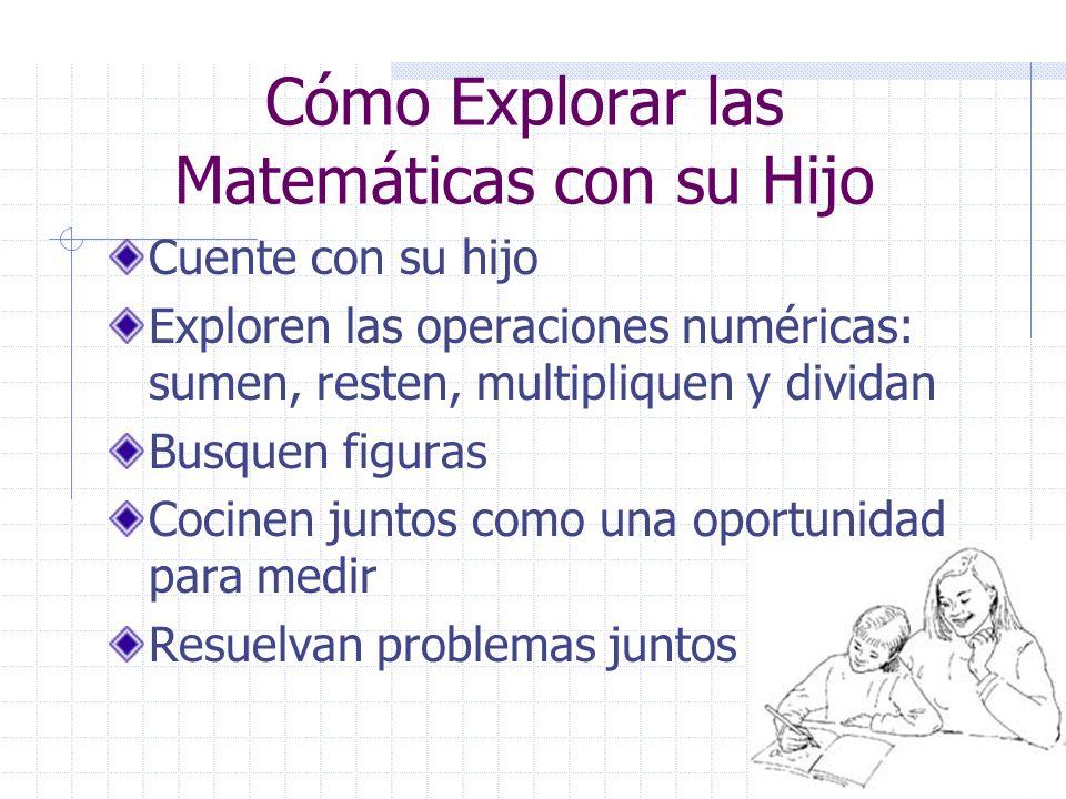 Cómo Explorar las Matemáticas con su Hijo