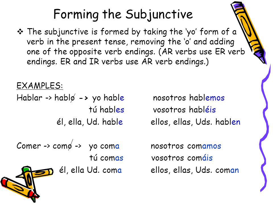 Forming the Subjunctive