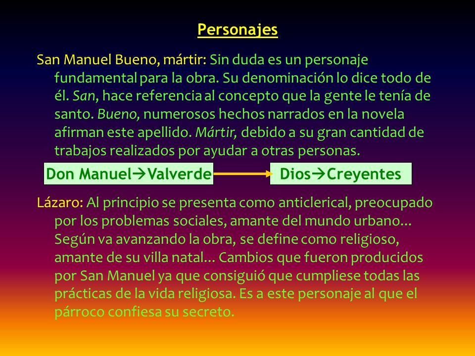 Personajes Don ManuelValverde DiosCreyentes