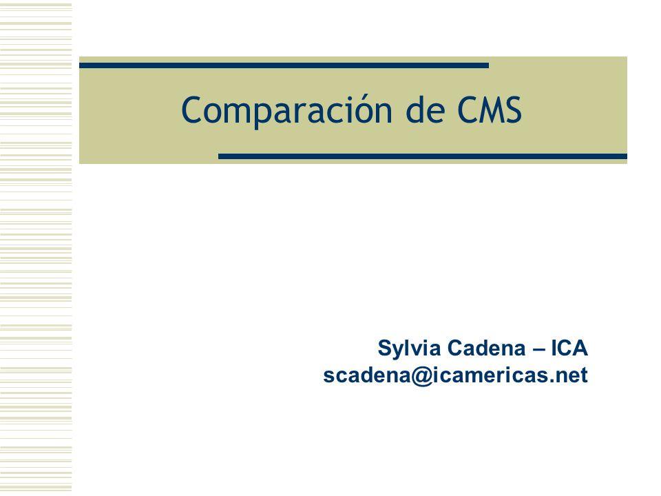 Sylvia Cadena – ICA scadena@icamericas.net