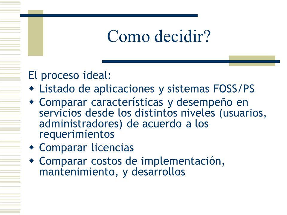 Como decidir El proceso ideal: